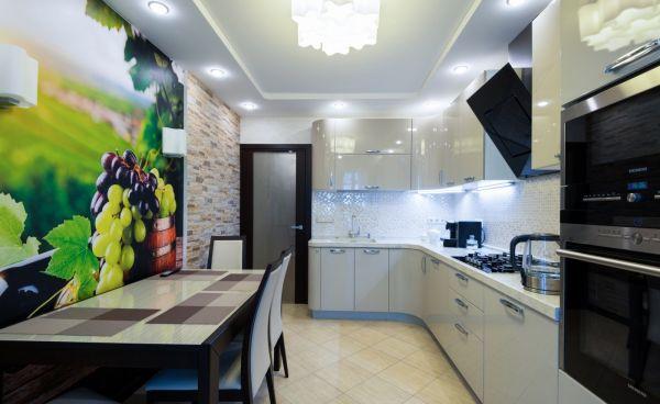 Как сделать ремонт в кухне 6 квадратов